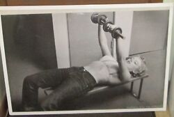MARILYN MONROE SEXY RARE SEALED  POSTER NORMA JEAN LIFTING WEIGHTS