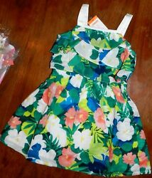 Dress Tropical Gymboree Sundress Floral Girl Toddler size 12-18 month New