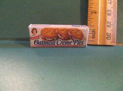 Miniature Kitchen Food Box of Oatmeal Creme Pies for Barbie Doll 1:6 $1.43
