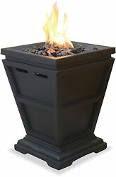 Tabletop Fire Pit Column Propane Gas Bowl Outdoor Patio Porch Pool Deck Heater