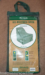set pair 2 Plow Hearth All Weather Adirondack Chair Covers Dark Green Heavy Duty