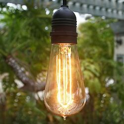 Brightown Elegan Style Outdoor Commercial Patio String Lights with 15 40Watt and
