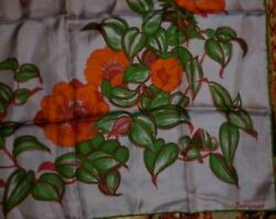 VINTAGE JACQMAR SILK FLORAL PRINT SCARF  IN EXCELLENT  CONDITION
