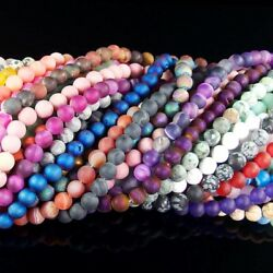 natural matte gemstone spacer loose beads 4mm 6mm 8mm 10mm 12mm strand 15.5