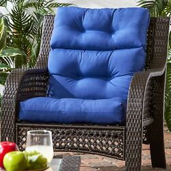 High Back Chair Cushion For Bad Backs Outdoor Furniture Seat Pad Cover Patio New