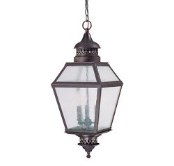 Savoy House Chiminea 3 Light Outdoor Hanging Lantern in English Bronze 5-771-13