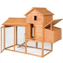 Chicken Coop Kits And Runs Backyard Rabbit Hutch Outdoor Rooster Or Ducks