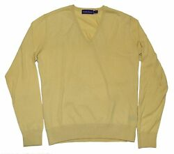 Polo Ralph Lauren Purple Label Mens Cashmere Sweater Yellow Italy Large