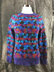 JCREW COLLECTION SWEATER ITALIAN CASHMERE STAINED GLASS XS SOFT AMAZING