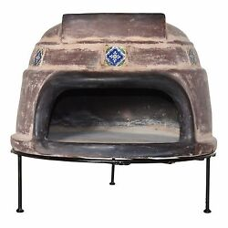 Clay Pizza Oven Talavera Tile by Ravenna Brick Wood Burning Outdoor Cooking