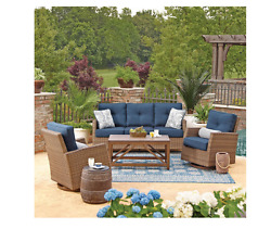 Patio Furniture Sets Clearance Wicker Outdoor Table And Swivel Glider Chairs Dec