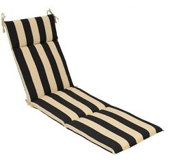 Patio Chaise Lounge Chair Replacement Seat Cushion Outdoor Pool Yard Stripes NEW