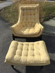 MID CENTURY Pearsall Hollywood Regency Lounge Chair And Ottoman knoll eames