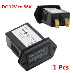 DC12-36V Hour Meter Vehicle Truck Tractor Diesel Outboard Engine Rectangular SYS