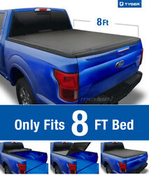 TYGER T3 Tri-Fold Tonneau Cover For 2009-2014 Ford F-150 8ft Bed (Excl.Raptor)