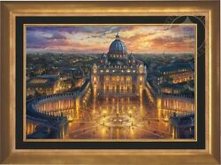 Thomas Kinkade Vatican Sunset 24 x 36 Limited Edition EE Canvas