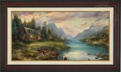 Thomas Kinkade Father's Perfect Day 24 x 48 Limited Edition GP Canvas
