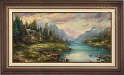 Thomas Kinkade Fathers Perfect Day 24 x 48 Estate Edition Limited Edition Canvas
