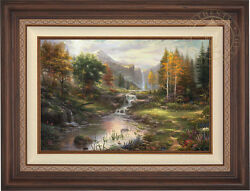 Thomas Kinkade Reflections of Family 24 x 36 Limited Edition EE Canvas