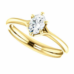 Semi Mount Setting 14K Yellow Gold Oval Engagement Solitaire Mounting Ladies $399.99