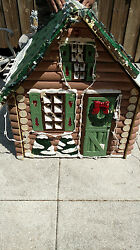Sylvannia Yulescapes Lighted Log Cabin Christmas Yard Decoration