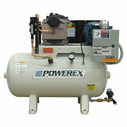 Powerex STS 7.5-HP 120-Gallon Oil-Less Open Scroll Air Compressor (460V 3-Pha...