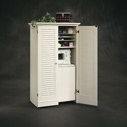 Craft Storage Furniture Sewing Machine Cabinet Supply Tables White Craft Armoire
