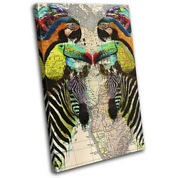 Africa Animal Exotic Colourful Animals SINGLE CANVAS WALL ART Picture Print