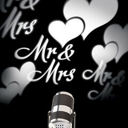 ROTATING LED MR amp; MRS HEARTS PROJECTOR $49.95