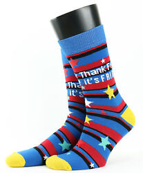 Thank F**k It#x27;s Friday Risque Novelty Socks for Men from Cockney Spaniel GBP 5.40