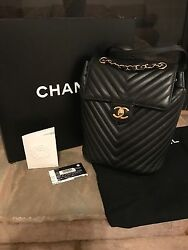 CHANEL 2017 URBAN SPIRIT BACKPACK LIGHT GOLD HARDWARE WITH RECEIPT Sold Out!!!