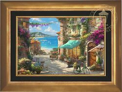 Thomas Kinkade  Italian Cafe 18 x 27 Limited Edition Estate Edition Canvas