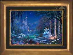 Thomas Kinkade Disney CINDERELLA DANCING IN THE STARLIGHT 18x27 LE EE Canvas
