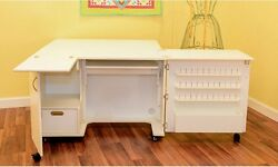 Craft Storage Furniture Sewing Machine Cabinet Supplies Tables Lift Armoire