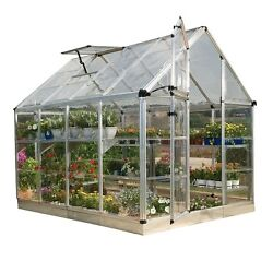 Greenhouse Kit Palram Mini Small Cottage Shade Starter Clear Hobby Garden Plasti