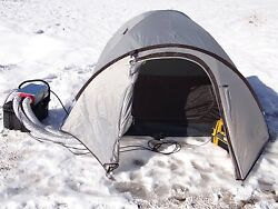 Portable Propane LP 12v Tent or Teardrop Camper Ducted Heater with Thermostat