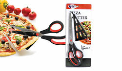Pizza Scissors 11 Inch Stainless Steel Slide the Spatula Tip Under the Pie