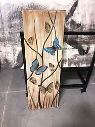 wall butterfly painting home decor $25.00