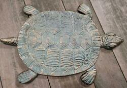Cast Iron Antique Style Nautical TURTLE Stepping Stone Garden Step Pond Pool $14.99