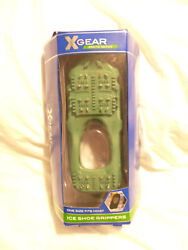 XGear Arctic Series Ice Shoe Grippers Metal Cleats One Size Fits Most Green NEW $6.85