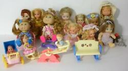 Collectible Miniature Doll Lot With Furniture - Cabbage Patch Kids-Holly Hobbie