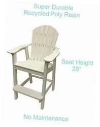 recycled poly resin balcony chair ? durable and adirondack patio furniture