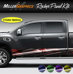 Armor #107 Rocker Panel Graphic Decal Wrap Kit Truck SUV - 4 Sizes 5 Colors