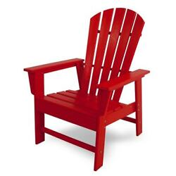 POLYWOOD South Beach Outdoor Adirondack Chair SBD16SR Sunset Red