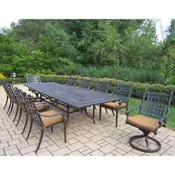 Oakland Living Belmont 11-Piece Outdoor Dining Set with Sunbrella Cushions