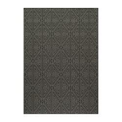 Momeni Baja Charcoal Outdoor Rug BAJA0BAJ-4CHR5376 5-ft 3-in x 7-ft 6-in