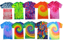 Tie Dye Style T-Shirts for Men and Women - Fun Multi Color Tops by Krazy Tees $9.49