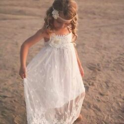 Lace Boho Flower Girl Dress Beach Flower Girl Dress by Ellura Sage