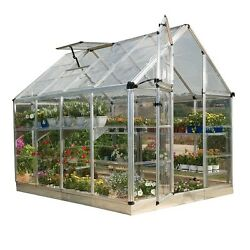 Greenhouse Kit Palram Mini Small Cottage Shade Starter Clear Hobby Garden House