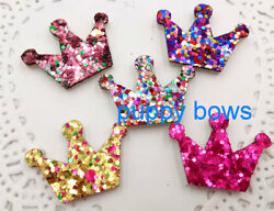 Puppy Bows ~ Dog hair bow TINY DOGS non shed glitter pet clips SIX!  ~ US SELLER